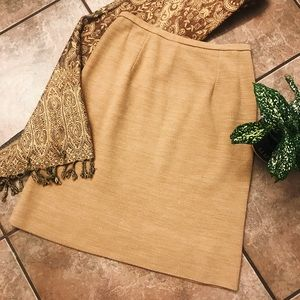 Vintage Beige 70's Pencil Skirt